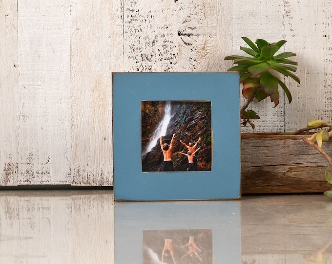 4x4 Square Picture Frame in 1.5 inch Standard Style with Vintage Smokey Blue Finish - IN STOCK - Same Day Shipping Frame Blue 4 x 4""