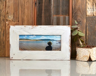 Made To Display Artwork Measuring 5x5 Inches White Wood Picture Frame
