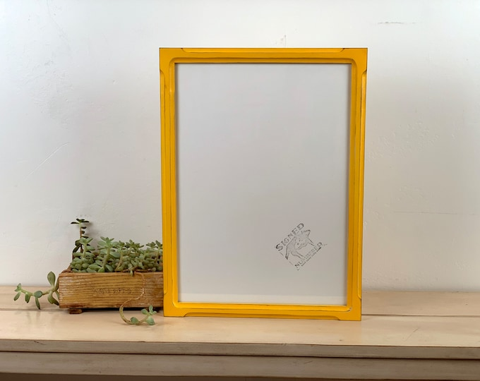 A3 Size Picture Frame in 1x1 Shallow Bones Style with Vintage Buttercup Finish - IN STOCK Same Day Ship - 297 x 420 mm - 11.7 x 16.5 inches