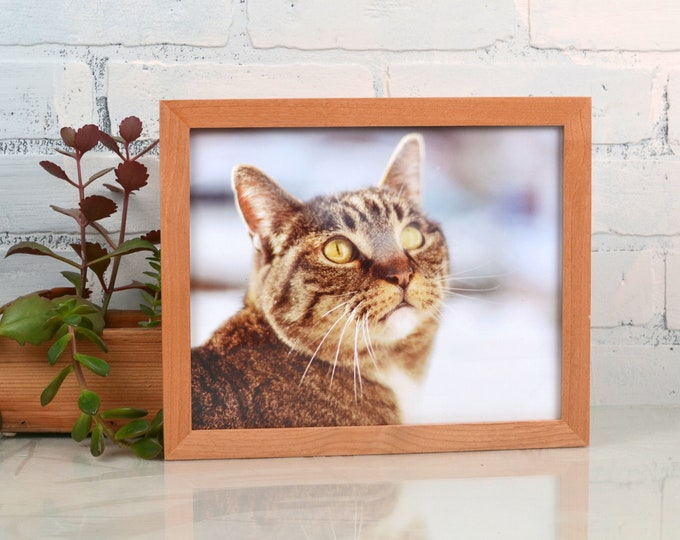 8x10 Picture Frame in Peewee Style with Solid Natural Alder Finish - IN STOCK - Same Day Shipping - 8x10 Photo Frame Solid Hardwood