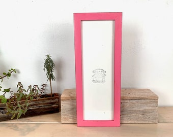 """5x15"""" Picture Frame SHIPS TODAY - 1x1 Flat Style with Vintage Pink Finish - In Stock - 15 x 5 Panoramic Photo Frame"""