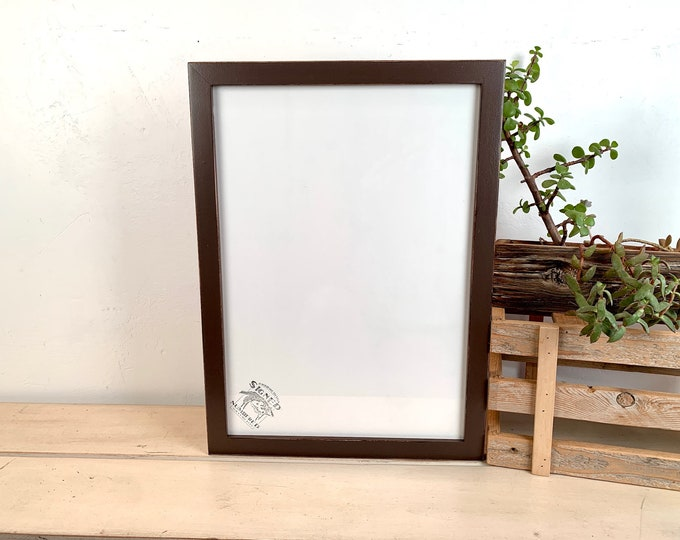 A3 Size Picture Frame - SHIPS TODAY - 1x1 Flat Style with Vintage Chocolate Brown Finish - In Stock - 297 x 420 mm - 11.7 x 16.5 inches