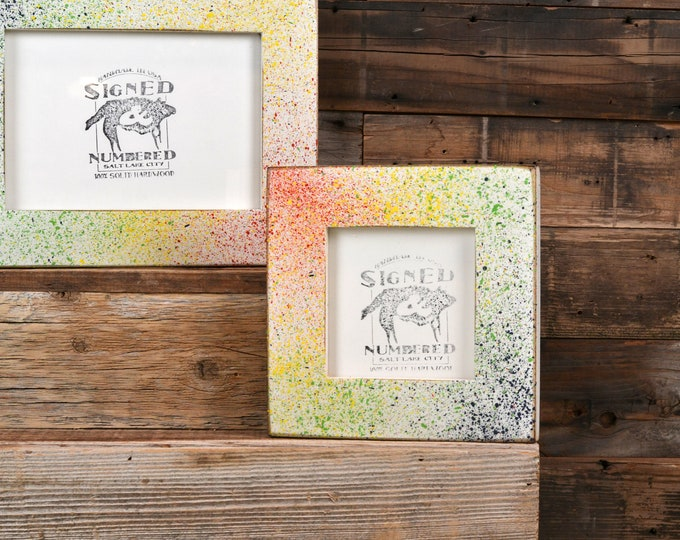Rainbow Pride Sprinkles Picture Frame - Choose your frame size -  3x3 up to 11x14 / 12.5x12.5 inches - FREE SHIPPING - Colorful Rainbows