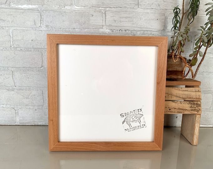 """11x11"""" Picture Frame in 1x1 Flat Style with Solid Natural Alder Finish - IN STOCK - Same Say Shipping - Handmade 11 x 11 Photo Frame"""