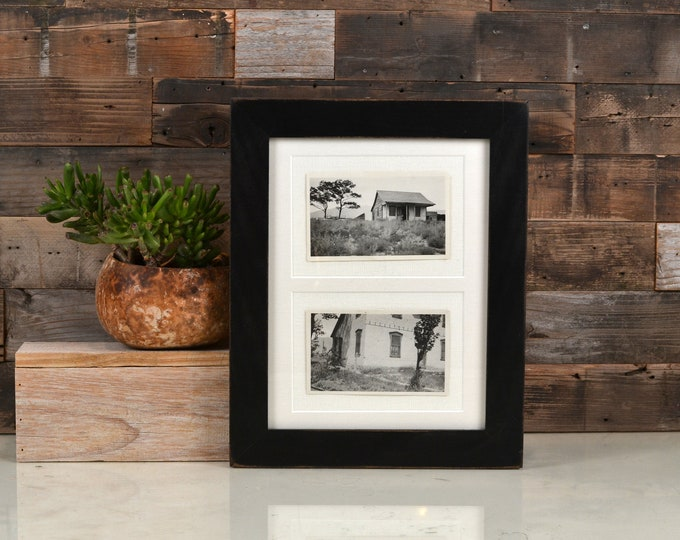 9x12 Picture Frame in 1.5 Standard Style with Vintage Black Finish - IN STOCK Same Day Shipping - Handmade Frame 9 x 12 inch size