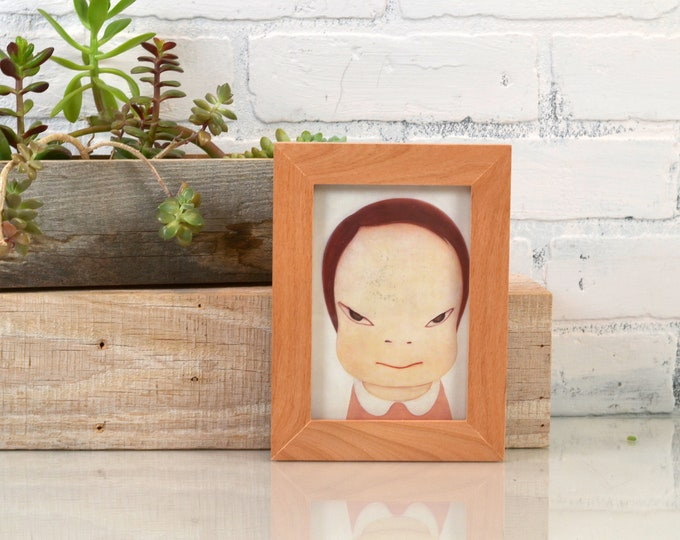 4x6 Picture Frame in 1x1 Flat Style in Solid Natural Alder - IN STOCK - Same Day Shipping - mid century decor 4 x 6 Photo Frame