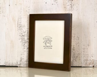 8x10 Picture Frame in 1.5 inch Standard style with Vintage Dark Wood Tone Finish - IN STOCK - Same Day Shipping - 8 x 10 Photo Frame