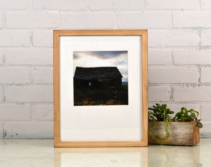 "11x14"" Picture Frame in Peewee Style with Burnished Natural Poplar Finish - IN STOCK - Same Day Shipping - Handmade 11 x 14 Frame"