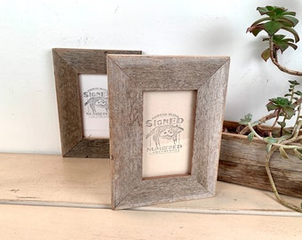 5x5 Square Frames Upcycled 5 x 5 Reclaimed Wood Photo Frame 5x5 Picture Frame in 1.5 Wide Rustic Natural Reclaimed Cedar