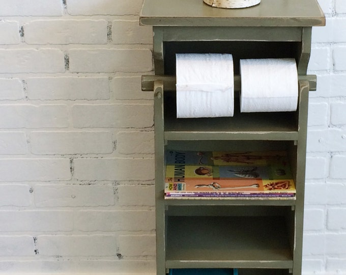 Handmade Bathroom Storage Tower Shelves in Color of Your Choice - Toilet Paper Holder - Bathroom Organizer