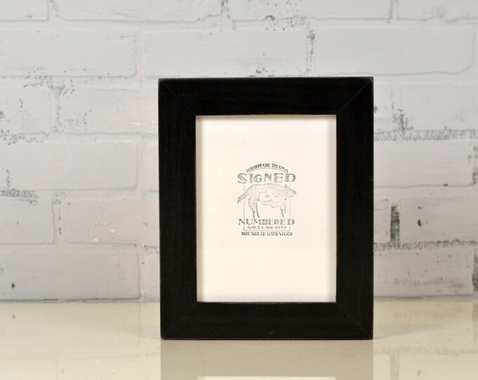 "6x8"" Picture Frame in 1.5 inch standard Style with Vintage Black Finish - IN STOCK - Same Day Shipping - 6 x 8 Picture Frames"