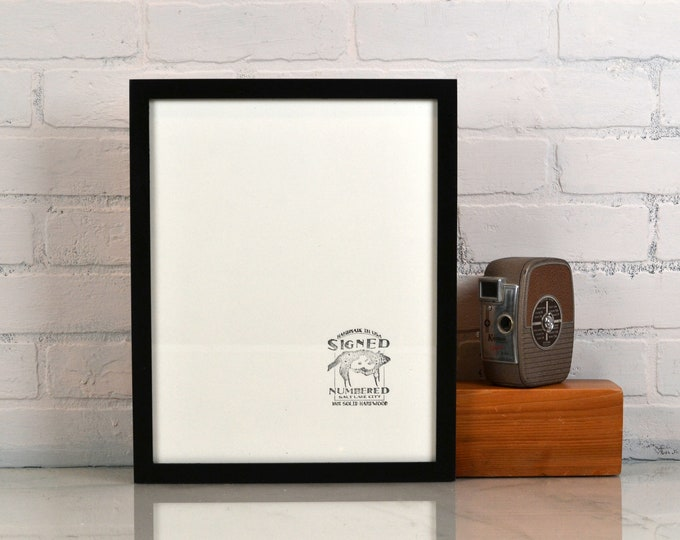 "11x14"" Picture Frame in Peewee Style with Solid Black Finish - IN STOCK - Same Day Shipping - Handmade 11 x 14 Solid Hardwood"