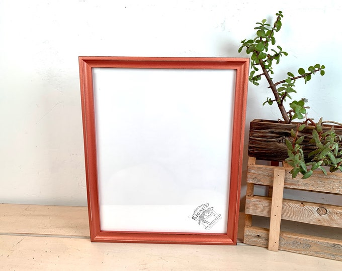 """11x14"""" Picture Frame - SHIPS TODAY - Foxy Cove style with Vintage Copper Finish - In Stock - 11 x 14 Handmade Frame Metallic"""