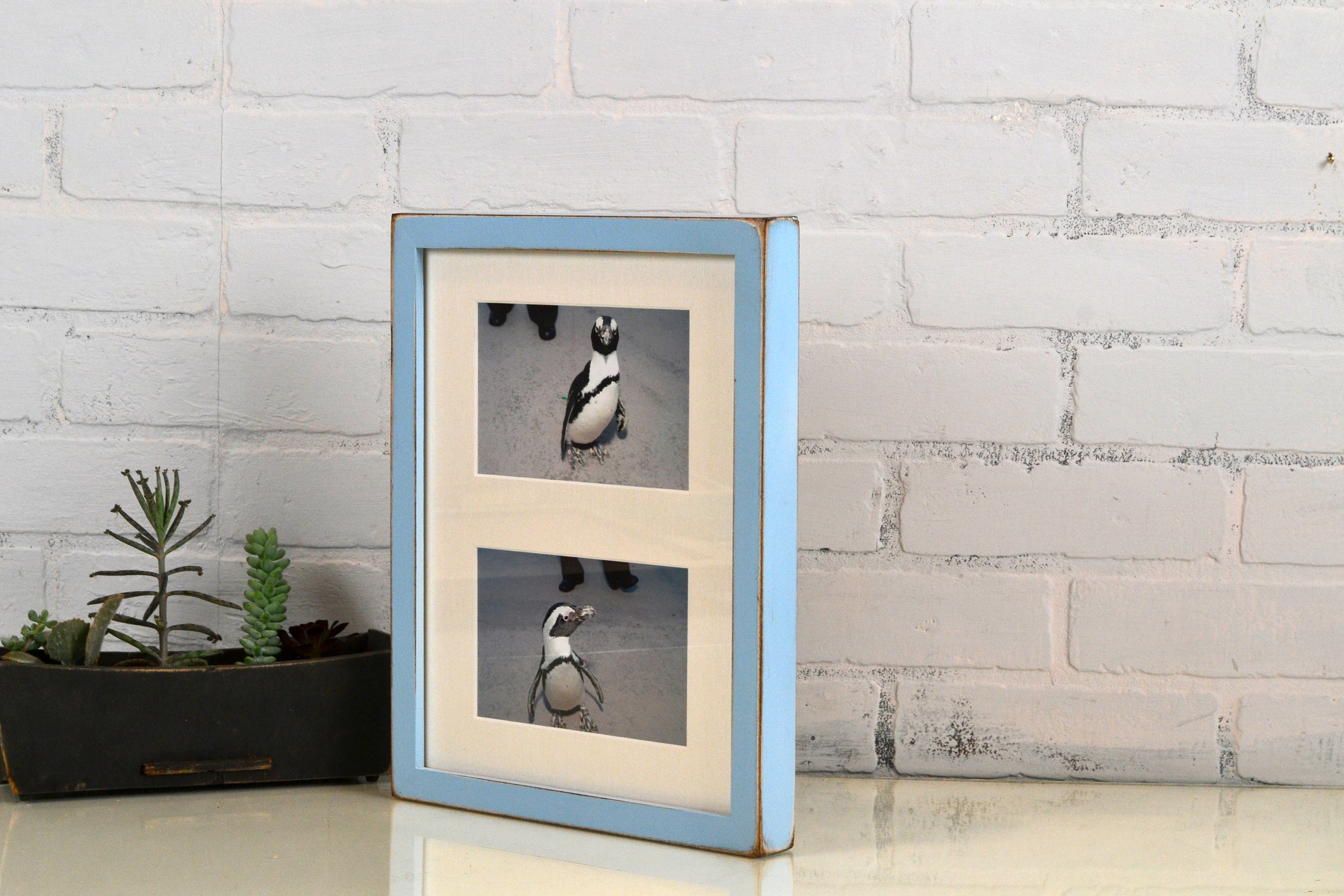 9x12 Picture Frame Mat Windows fit (2) 4x6 OR (2) 5x7 Photos in Deep ...