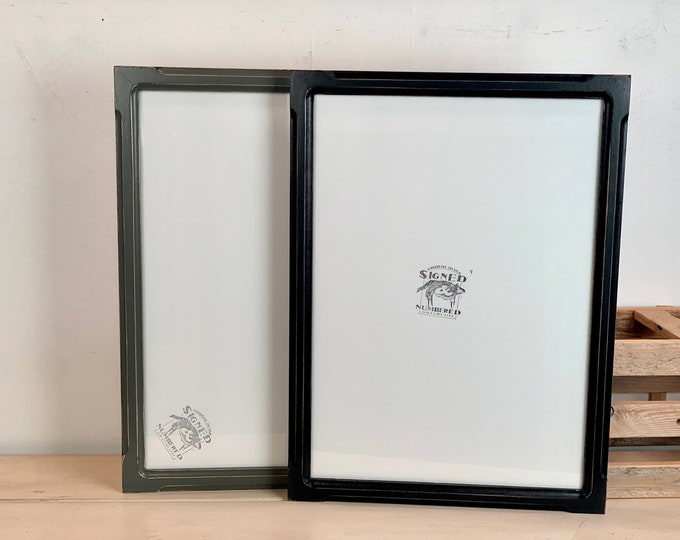 A3 Size Picture Frame - Choose Your Color in 1x1 Shallow Bones Style Black or Sable Finish - IN STOCK - 297 x 420 mm - 11.7 x 16.5 inches