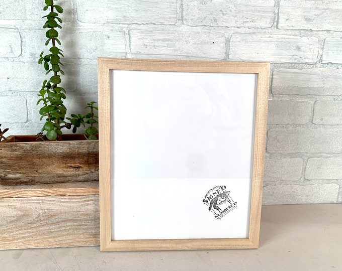 10x12 Picture Frame - SHIPS TODAY - Peewee style with Solid Natural Poplar Finish - In Stock - 10 x 12 inch Wood Frame Solid Hardwood