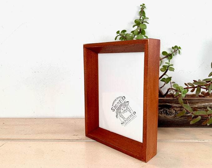 """5x7"""" Picture Frame - SHIPS TODAY - Park Slope Style with Vintage Wood Tone Finish - In Stock - 5 x 7 Photo Frame"""