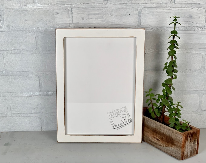 """A4 Size Picture Frame - SHIPS TODAY - 1x1 Flat Style with Super Vintage White Finish - In Stock - Frame - 210 x 297 mm - 8.3 x 11.7"""""""