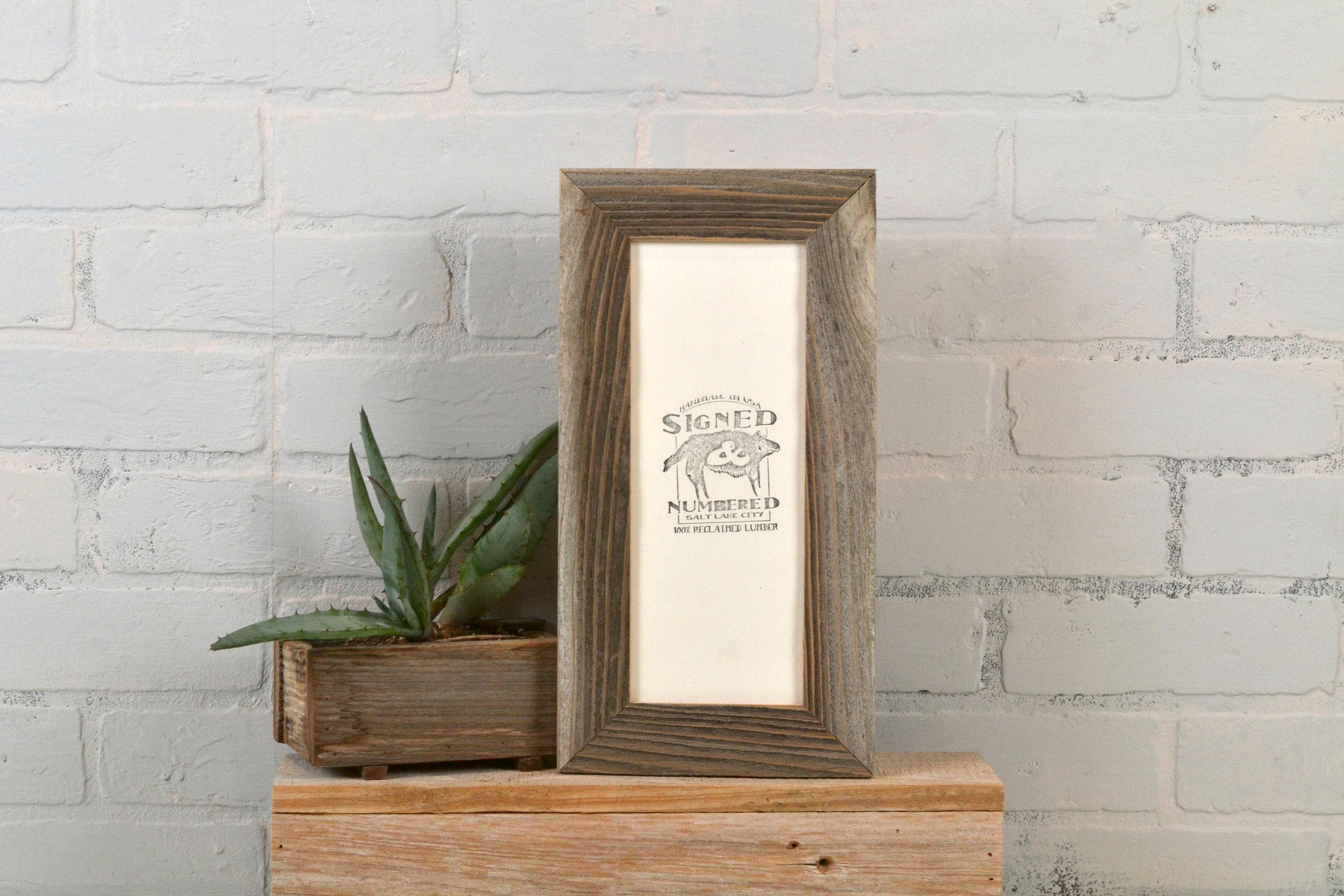 4x10 Picture Frame in Rustic Natural Reclaimed Cedar - IN STOCK Same ...