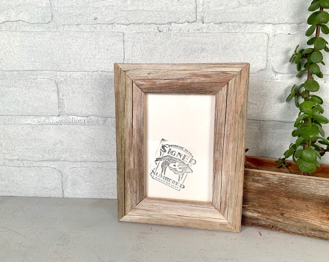 4x6 Picture Frame in Rustic Natural Reclaimed Cedar - In Stock - Same Day Shipping - Unique Rustic Picture Frame 4 x 6