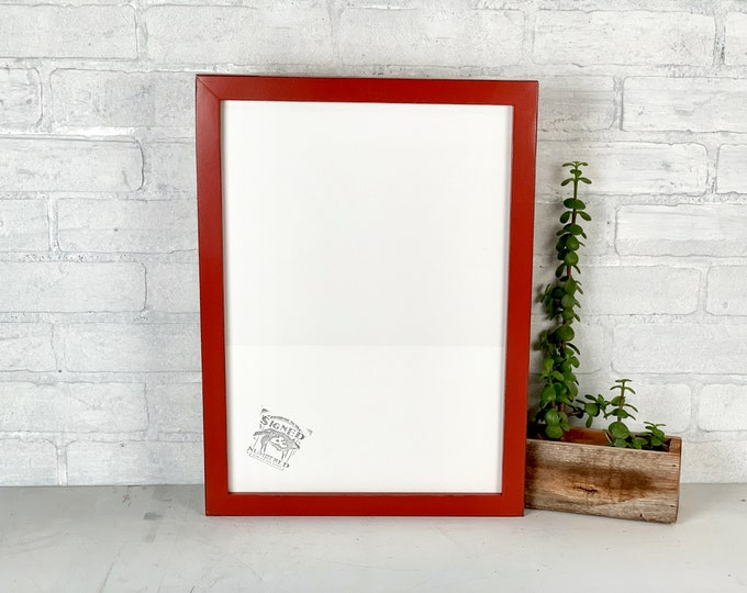A3 Size Picture Frame - SHIPS TODAY - 1x1 Flat Style with Vintage Brick Red Finish - In Stock - 297 x 420 mm - 11.7 x 16.5 inches