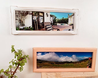 5x15 Panoramic Picture Frame in Vintage Color and Style of Your Choice - Solid Hardwood Frames - 5 x 15 inch Panorama Photo Print Frames