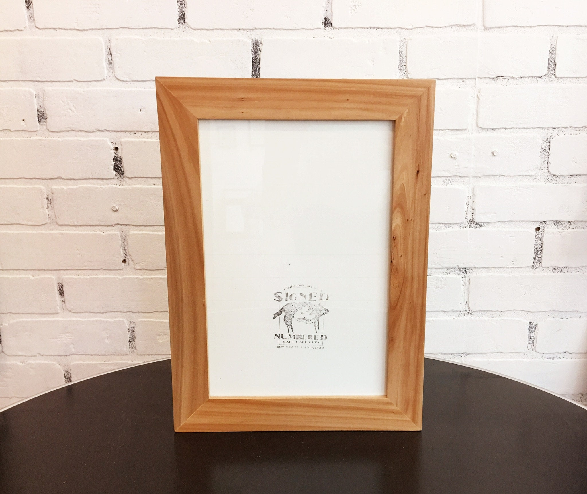 8x12 Picture Frame in 1.5 wide Solid Natural WILLOW Wood Frame - IN ...