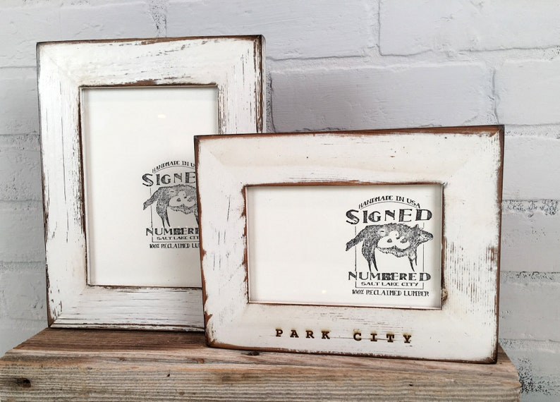 Personalized Frames Choose Your Size And Message Reclaimed Cedar In Various Colors Sizes 2x2 Up To 8x10 Inches Vertical Or Horizontal