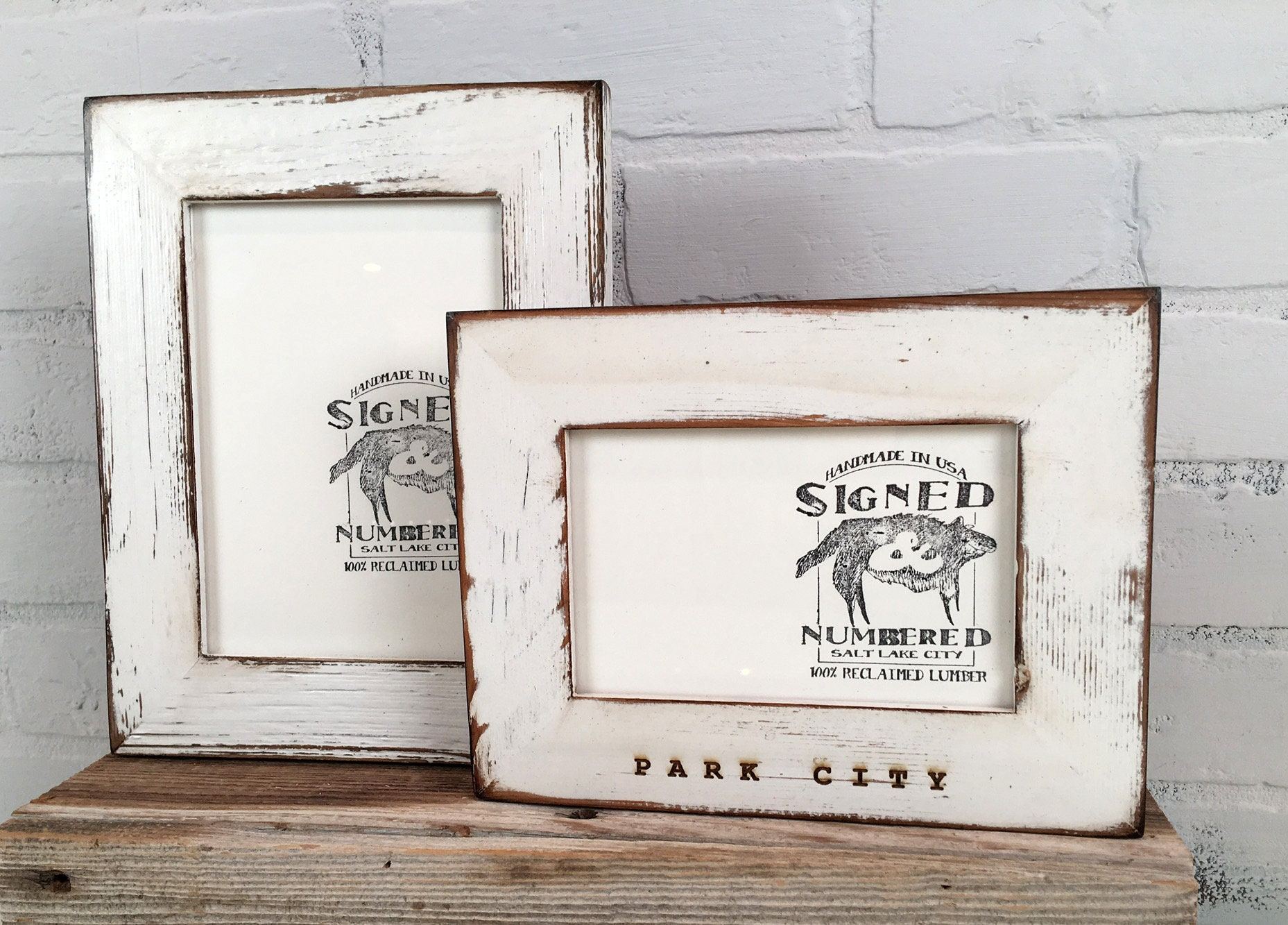 Personalized Frames - Choose Your Size and Message - Reclaimed Cedar ...