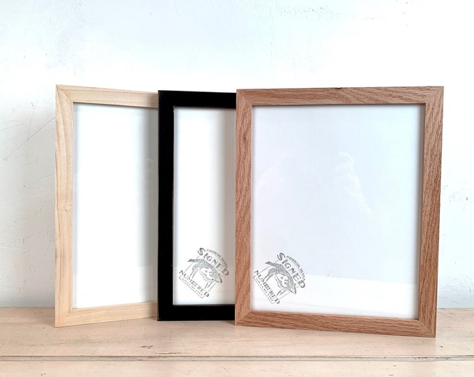 """8x10"""" Picture Frame - BEST SELLERS - Peewee Style - Choose Your Color - 8 x 10 Solid Hardwood- Ships ASAP - Frames On Sale"""