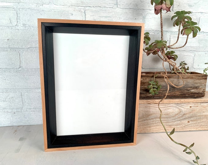 """8 x 11.25"""" Picture Frame - SHIPS TODAY - Park Slope Plus Style with Solid Black Finish - In Stock 8x11.25 inch Odd Size Frame"""