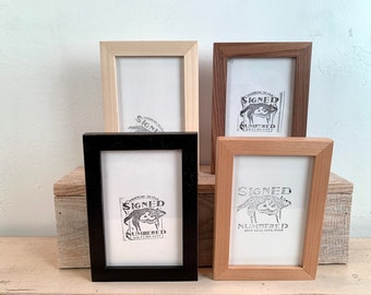4x6 Picture Frame - BEST SELLER - Peewee Style in Finish Color of Your Choice - Ships Right Away - Modern - Simple - 4 x 6 Photo Frame