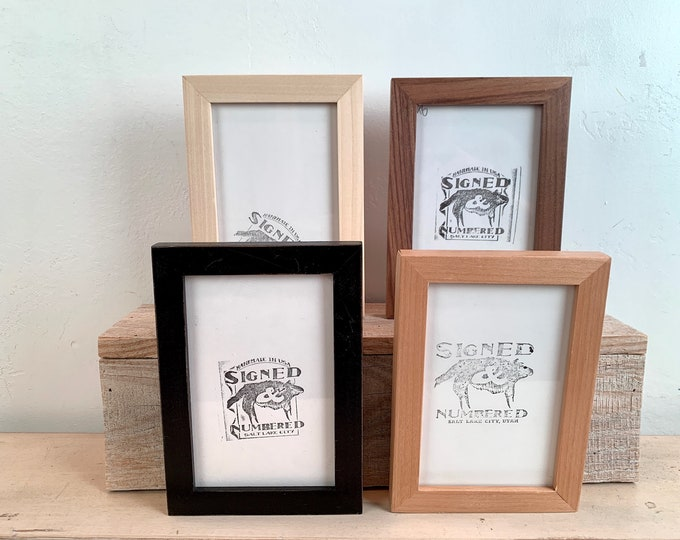 4x6 Picture Frame - BEST SELLER - Peewee Style in Finish Color of Your Choice - In Stock - mid century decor 4 x 6 Photo Frame
