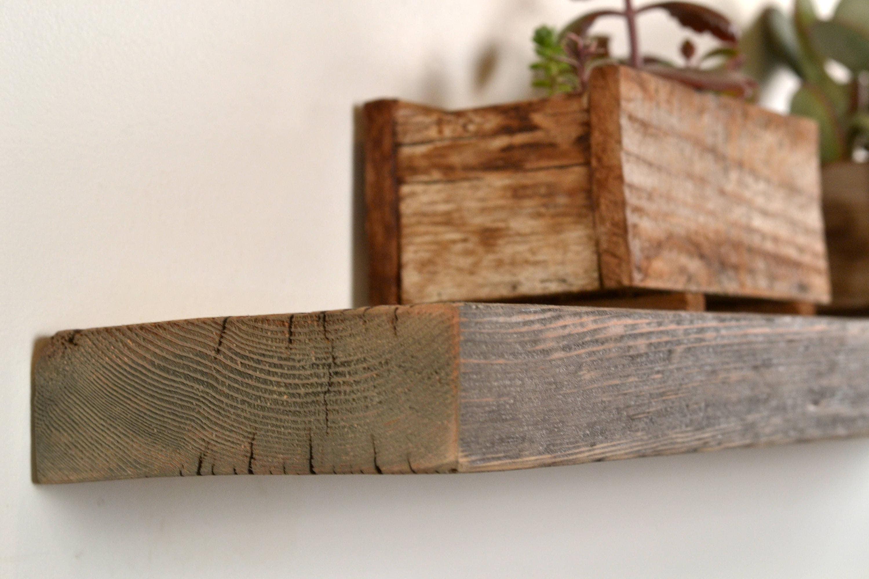 floating shelf reclaimed wood 24 wide
