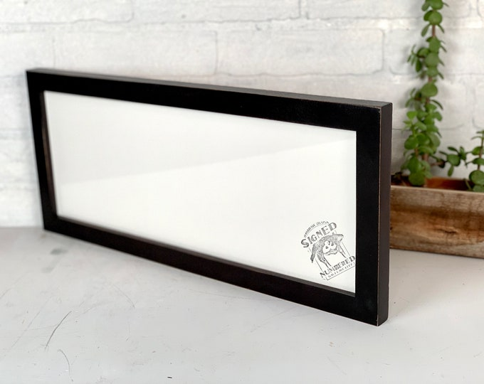 """6.75x17.75"""" Picture Frame - SHIPS TODAY - 1x1 Flat Style with Vintage Black Finish - In Stock - 6.75 x 17.75"""" Panoramic Photo Frame"""