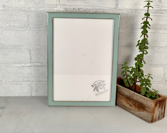 """A4 Size Picture Frame - SHIPS TODAY - Peewee Style with Super Vintage Homestead Green Finish - In Stock - Frame - 210 x 297 mm - 8.3 x 11.7"""""""