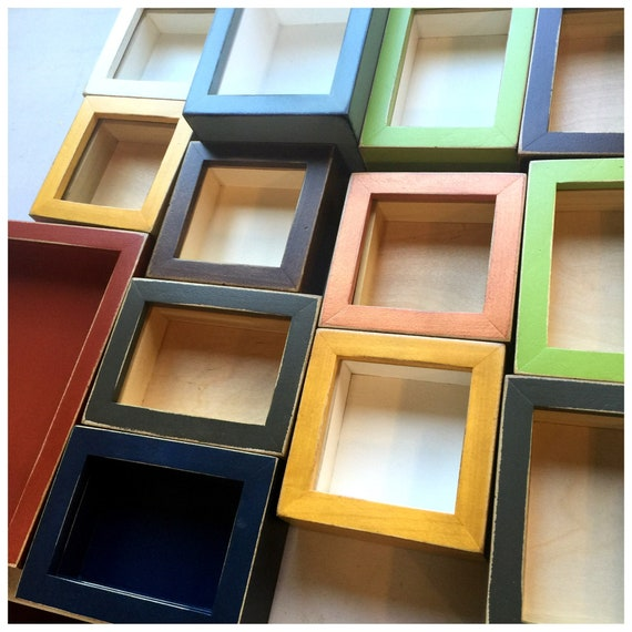 Handmade Small Shadow Box Frame Holds Up To 4 X 6 X 125 Etsy