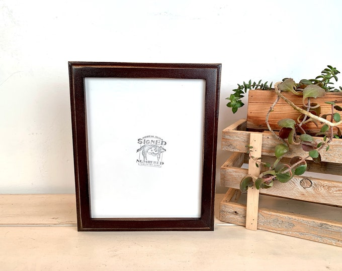 """8x10"""" Picture Frame - BEST SELLERS - 1x1 Outside Cove Style with Vintage Dark Wood Tone Finish 8 x 10 Frame - Ships ASAP - Frames On Sale"""