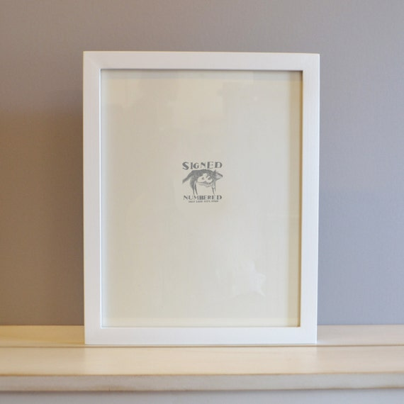 11x14 Picture Frame In 1x1 Flat Style With Solid White Etsy