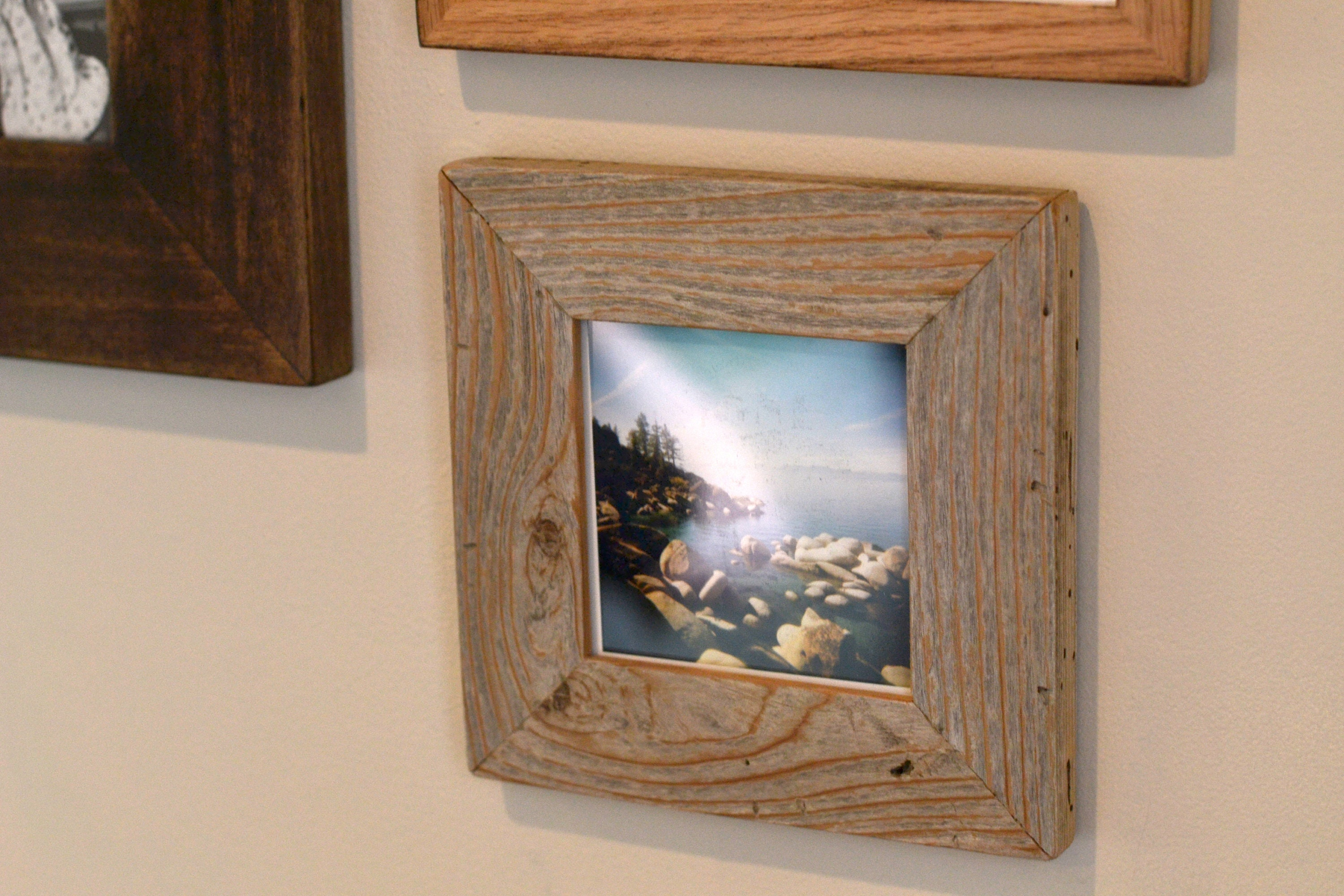 5x5 Picture Frame In 15 Wide Rustic Natural Reclaimed Cedar
