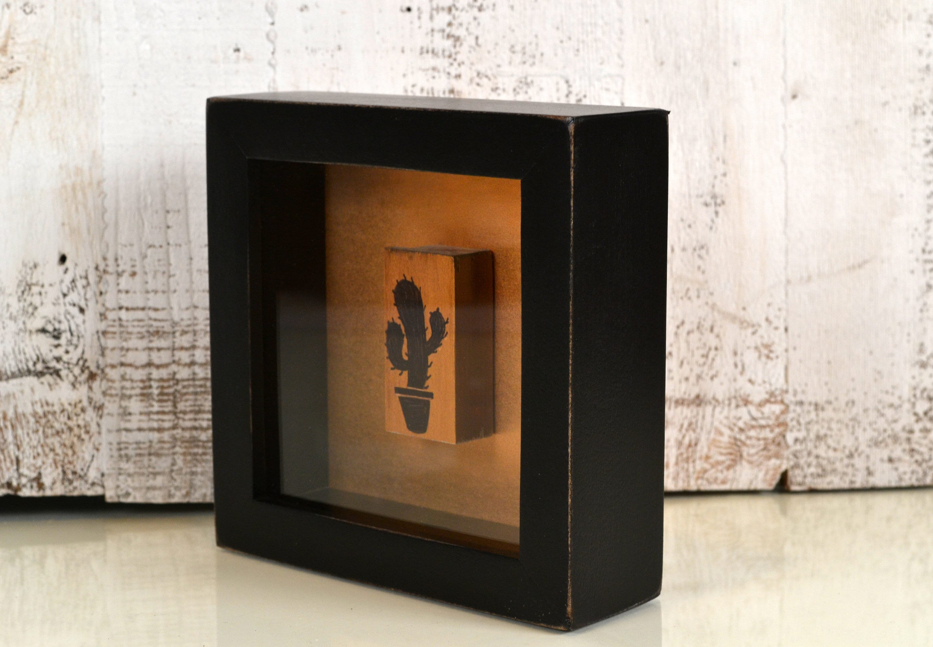 Handmade Small Square Shadow Box Frame Holds Up To 6 X 6 X 15