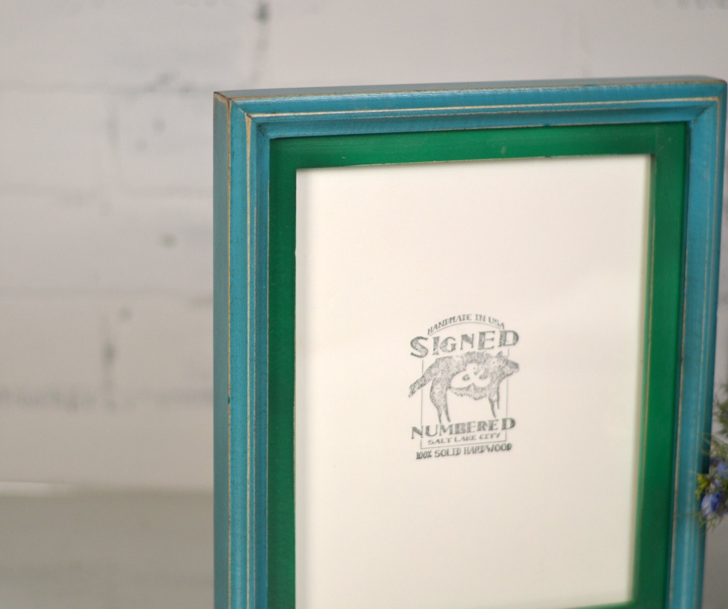 8x10 Picture Frame in 1x1 Double Cove Build Up Style and VINTAGE ...