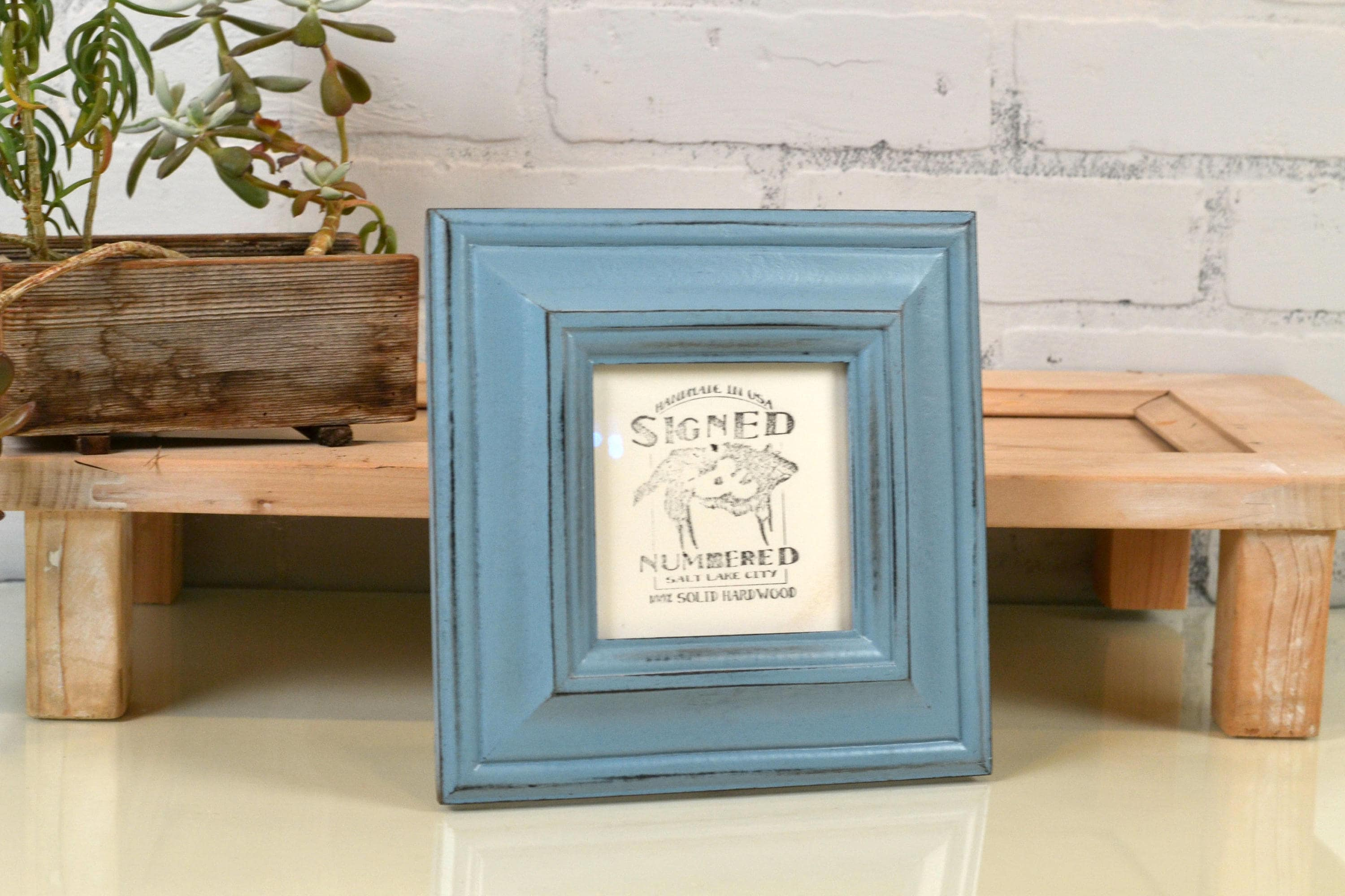 4x4 Picture Frame in Mulder Style with Vintage Black under Smokey ...