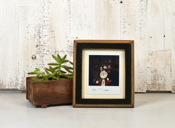 Picture Frame For Instant Camera Print In 1x1 2 Tone Style And Etsy