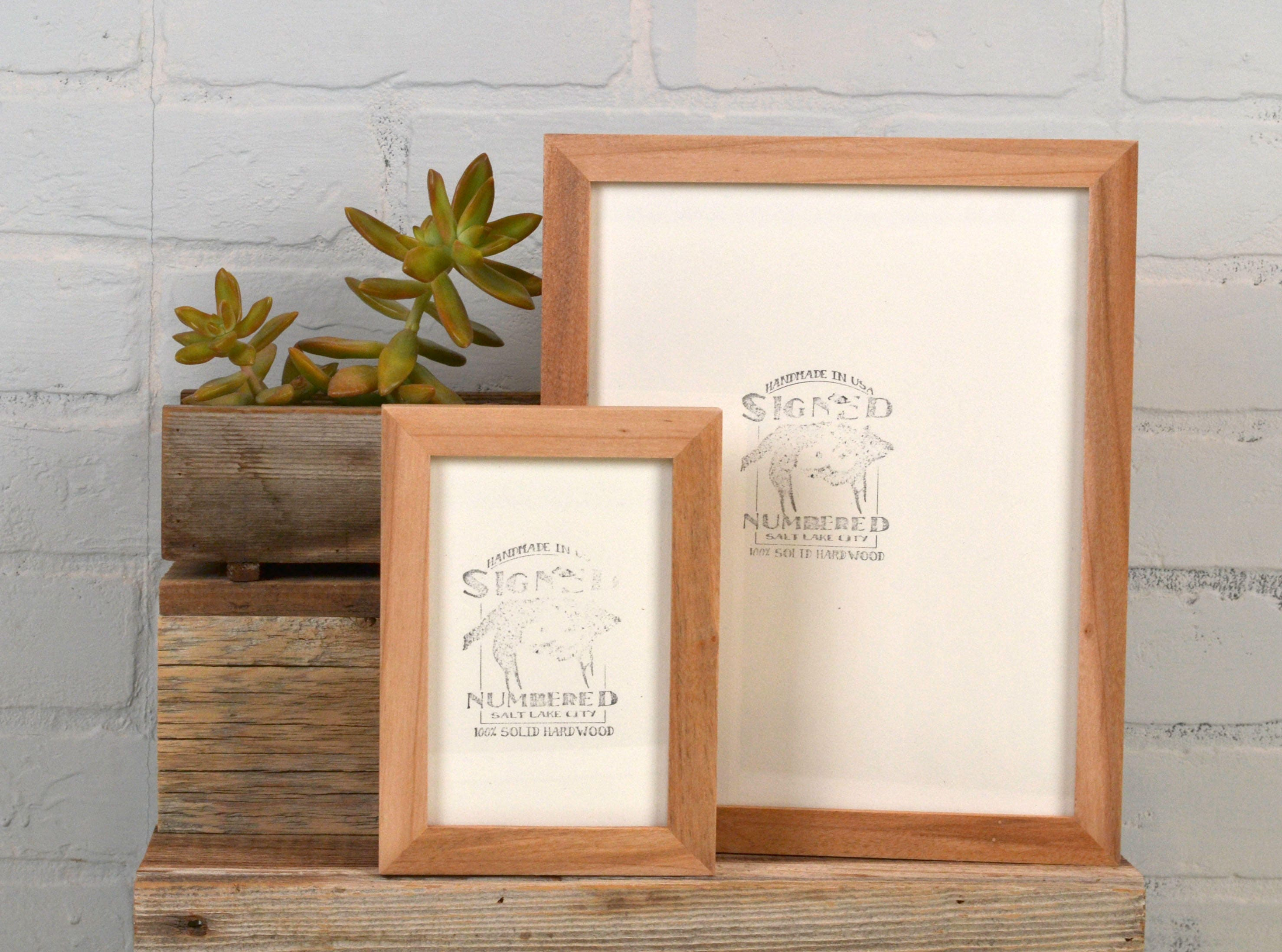 BASIC Picture Frame - Natural WILLOW Solid Hardwood Gallery Wall ...