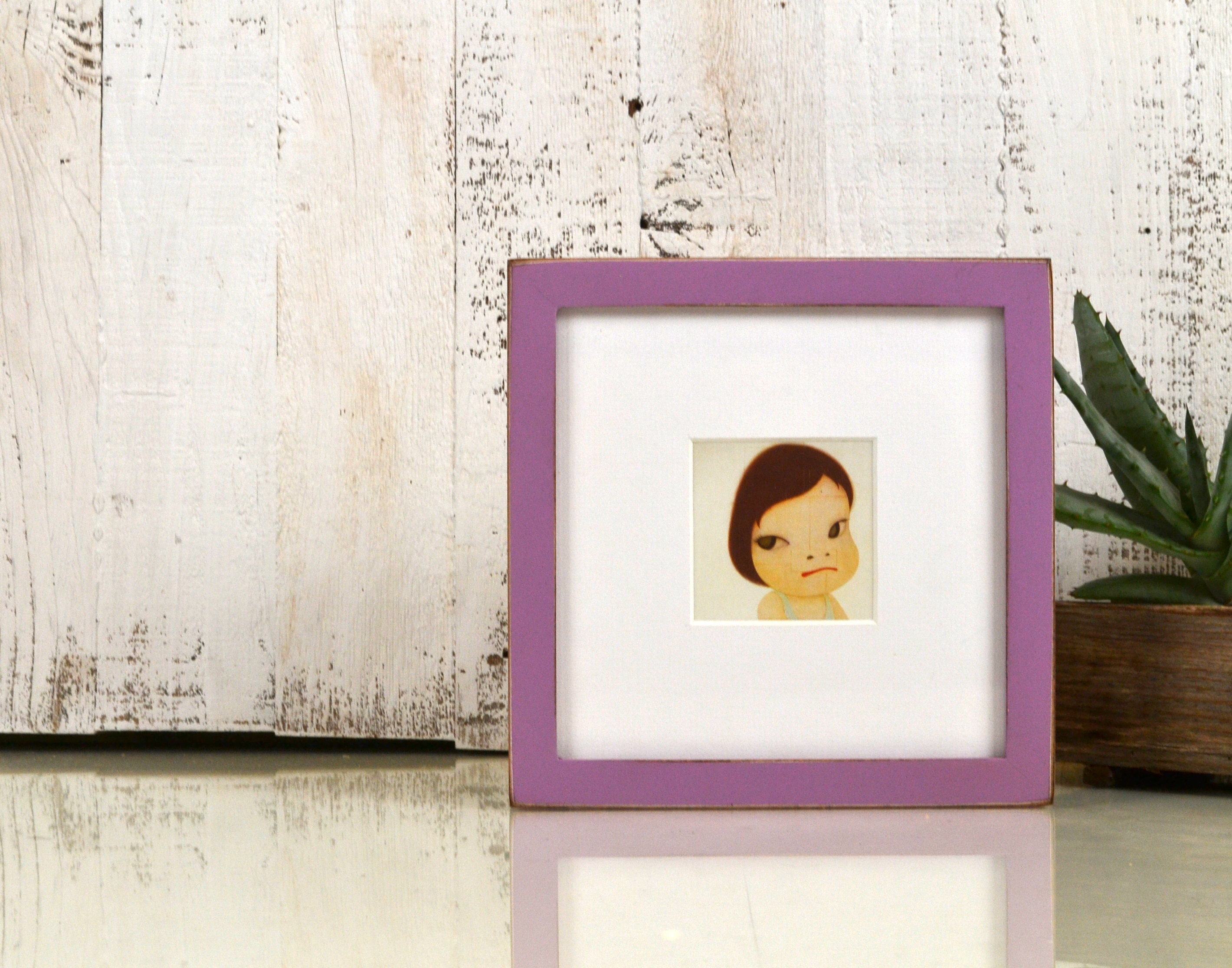 7x7 Square Picture Frame in Peewee Style with Vintage Violet Finish ...