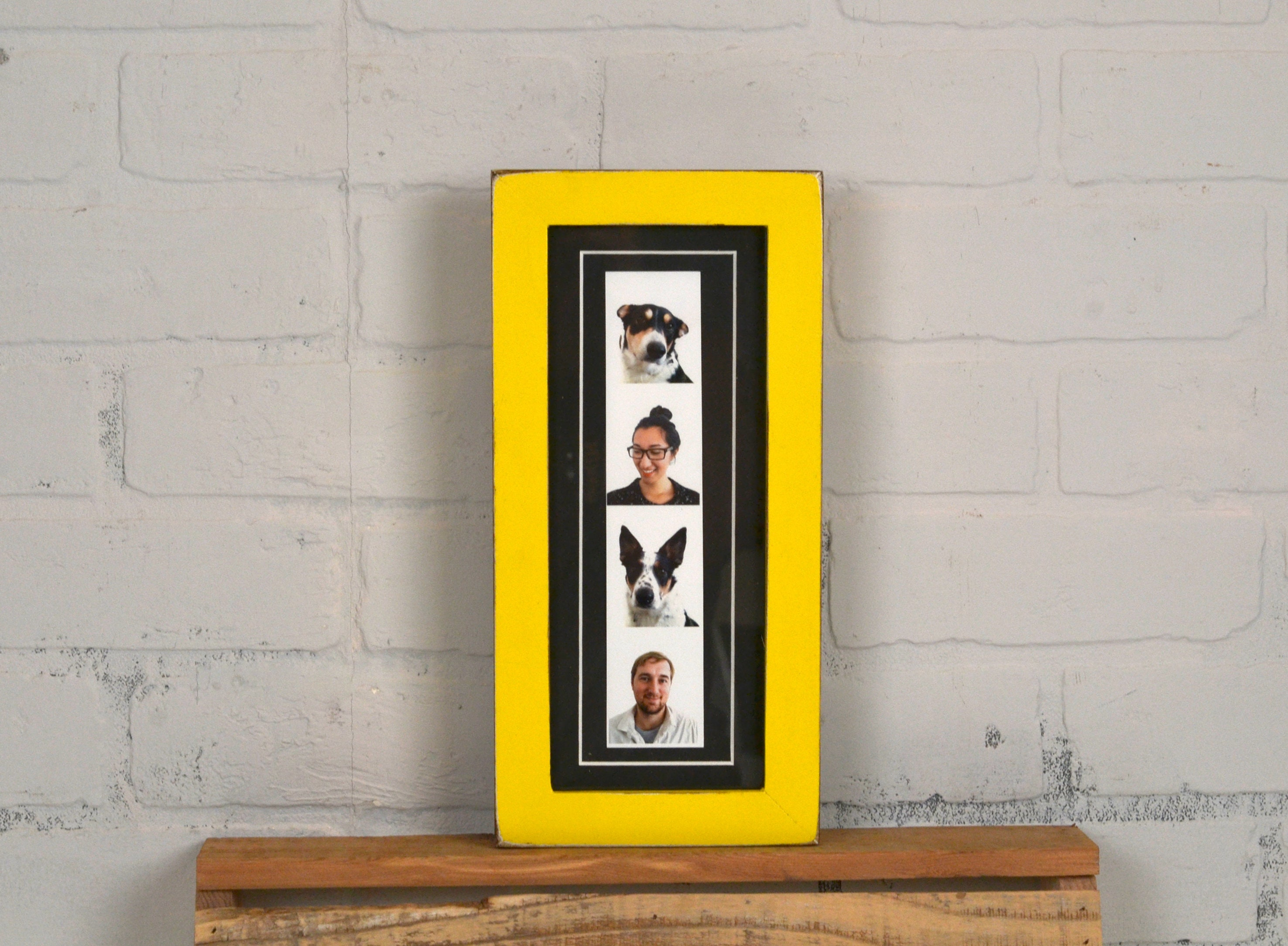 4x10 Picture Frame For Photo Booth Strip In 1x1 Flat Style And Color