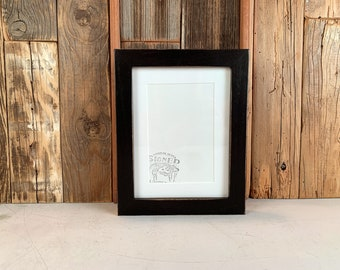"""6x8"""" Picture Frame - SHIPS TODAY - 1x1 Flat Style with Vintage Black Finish - In Stock - 6 x 8 Picture Frames Black"""