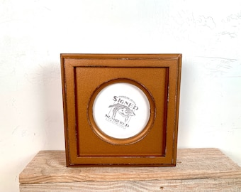 4x4 Circle Frame - SHIPS TODAY - Vintage Roman Gold Finish Outside Cove Build up Edge Circle Opening Frame - In Stock - 4 x 4 Round