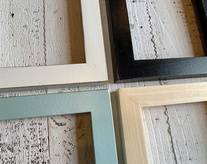 """5x7"""" Picture Frame - BEST SELLERS - 1x1 Flat Style - Choose Your Color - 5 x 7 Solid Hardwood- Ships ASAP - Frames On Sale"""
